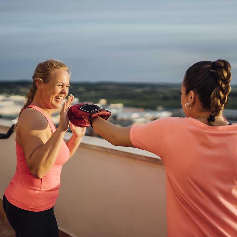 Coaching Kick Boxing a Domicile